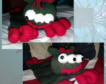 Hand Knitted Ugly Monster Pyjame Case