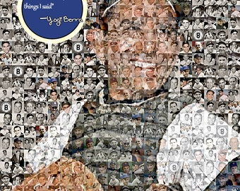 Derek Jeter Photo Mosaic Print Art Using 50 By Themosaicguy
