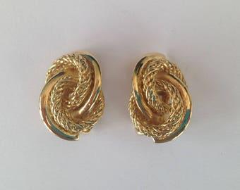 Vintage Henkel and Grosse Goldplate Clip On Earrings.