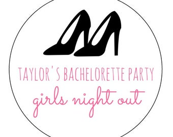 20 High Heel Stickers, Bachelorette Party, Girls Night, Bachelorette Labels, Personalized Stickers, High Heels, Party Stickers, Favor Tags