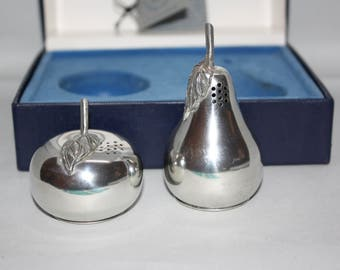Pewter Salt & Pepper Shakers in Original Box--Kirk Stieff American Made