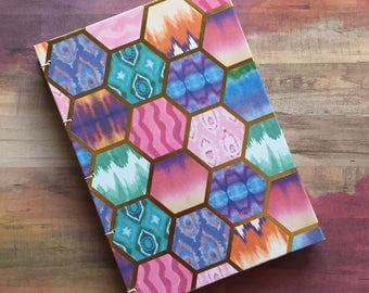 Colorful Sketchbook/Journal, Blank Pages, No Lines, 5 x 7 inches, 50 White Pages, 10 Colored Pages