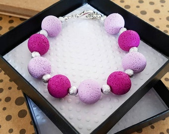 Polymer clay jewelry, purple pink and pastel purple polymer clay beads bracelet, polymer clay bracelet, Polymer beads, Summer style jewelry