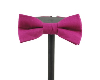 Magenta Cotton Bow Tie | Groomswear | prom wear | gifts for him