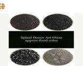 Spring Sale Bullseye COE 90 Black Opal  Kiln Fusing Glass Frit~ 2oz Choice  Fusing Supplies