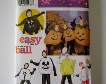 Simplicity Sewing Pattern 3993 Child Pumpkin Costume Adult Pumpkin Costume Halloween Ball Chest Size 22 - 42 Inch UNCUT