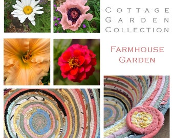 Farmhouse Garden Inspired Basket - The Cottage Garden Collection - Made to Order Handmade Fabric Baskets and Trivets