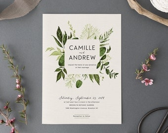 woodland wedding invitation setprintable forest wedding suitenature weddingoutdoor wedding invites