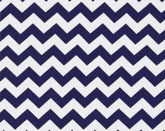Baby (single) bed skirt, Navy and white chevron