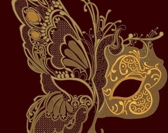Masquerade Masks for Women - Designer Masquerade Masks Machine Embroidery Designs INSTANT DOWNLOAD