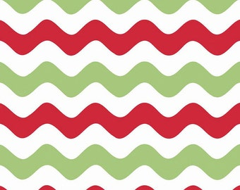 CLEARANCE FABRIC Wave Christmas by Riley Blake Designs