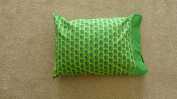 Green Elephant Pillowcase