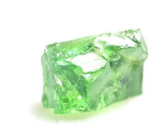 Tsavorite 3.03 carat facet rough crystal very clean Tsavorite Garnet