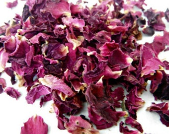 EDIBLE ROSE PETALS Tea Organic Premium, 1-6 Cups, Culinary Bulk Loose Dried Flower Cake Decoration Topper Sprinkle Dessert Pink Vegan Toss