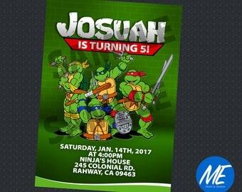 Ninja Turtles Birthday Invitation - Printable