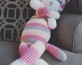 Large Amigurumi Crochet Cat