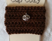 Coffee Cup Cozy, Crochet Coffee Cup Cozy, Cup Cozy, Owl Cup Cozy, Crochet Cup Cozy, Brown Coffee Cup Cozy
