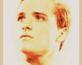 The Hunger Games Peeta Mellark (Josh Hutcherson) Portrait Cross Stitch Chart