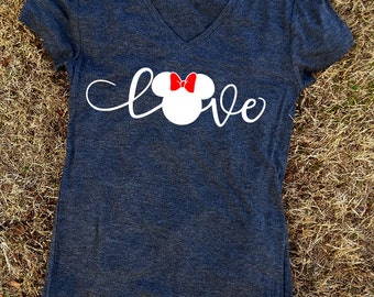 Love Disney Shirt, Family Disney Shirts, Mickey Minnie Shirts, Mickey T-shirt, Minnie T-Shirt, Family Shirts