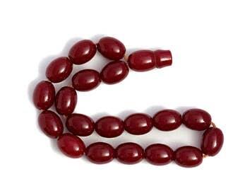 Prayer Beads Imam Cherry Amber Bakelite