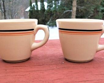 Vintage Inca Ware Shenango China Diner Restaurant Coffee Mugs Set of 2