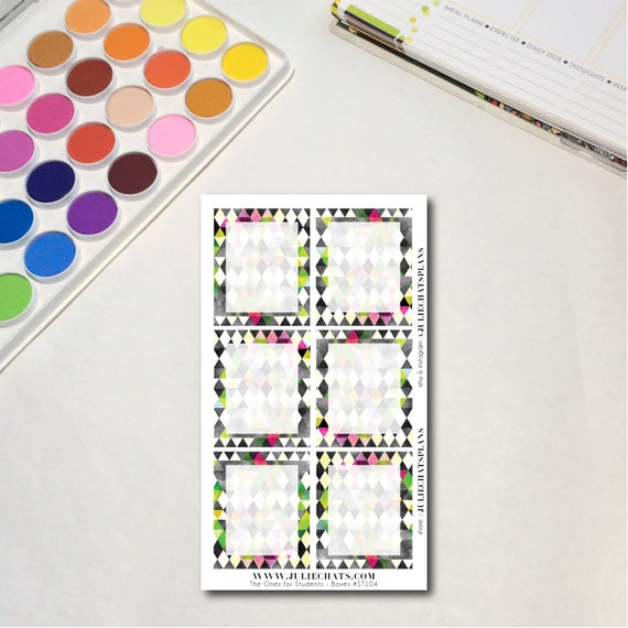 Student High School Planner Sticker Sheet, The Ones for Students - Boxes, Erin Condren, Happy Planner, Traveler's Notebook