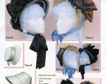 Ladies' Victorian Natural Form Bustle Era Bonnet circa 1877-82 Costume - Lynn McMasters Sewing Pattern #48