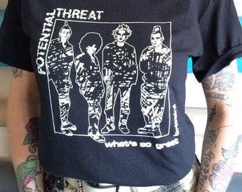 Potential threat band shirt punk screen printed U.K. Anarchy female fronted