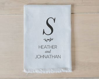 Personalized Napkin - Large Initial and Names