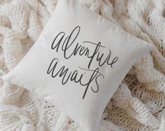 Throw Pillow - Adventure Awaits