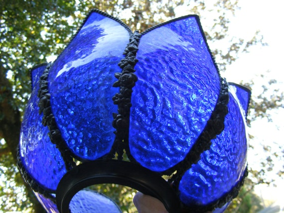 Gothic Cobalt Blue Lamp Shade Pendant Replacement Shade