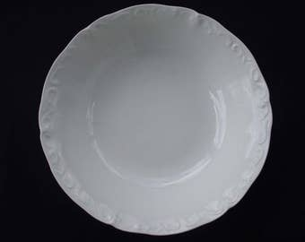 Staffordshire White Mist Ironstone England Serving Bowl 9""