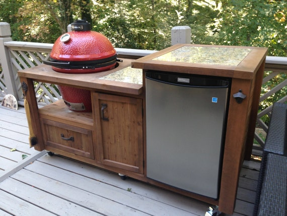 Grill Cabinet W Yeti Cooler Drawer Custom Built For Big