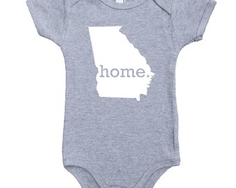 Homeland Tees Georgia Home Unisex Baby Bodysuit