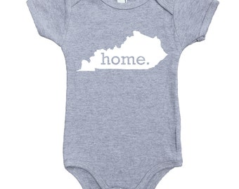 Homeland Tees Kentucky Home Unisex Baby Bodysuit