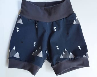 Boys Shorts - Mountain Shorts - Toddler Boy Shorts - Baby Boy Shorts - Trendy Baby Shorts - Kids Shorts - Hipster Baby Clothes - Blue Shorts