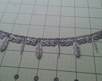 Feather chain bracelet.