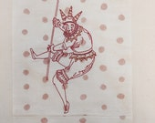 Unframed embroidery, Harlequin, ready to ship