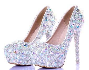 Sparkling Wedding Bling Bride Rhinestone Crystal Shoes