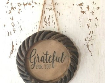 Primitive Beeswax Frame - Grateful For You