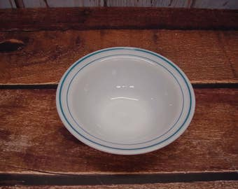 Anchor Hocking Fire King Blue Band Serving Bowl #938