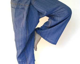 TCZ0050 Thai Fishermsn Pants Wide Leg pants, Wrap pants, Unisex pants, Thai Fisherman Pants, TC Fabric