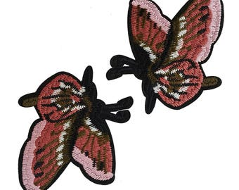 Iron On Embroidered Butterflies Patches Appliques, Insects Badges, Gucci Style Badges