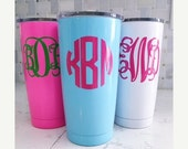 Yeti Flash Sale Powder Coated 20oz YETI Rambler/Personalized/Monogram YETI/Custom YETI