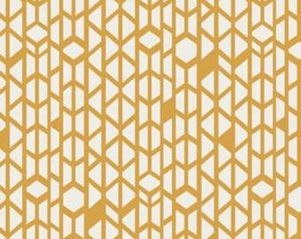 Fitted Crib Sheet in Canyon Wall Mustard, mustard crib sheet
