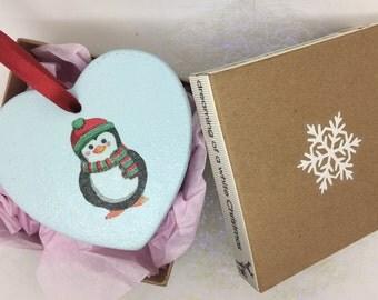 Penguin Tree Decoration, Penguin Ornament, Gift for Teacher, Secret Santa, Christmas Penguin, Penguin Decoration, Tree Decoration