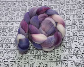 Syringia 2 - 4 oz polwarth combed top - multicolor mad science spinning fiber - handdyed wool roving - one of a kind