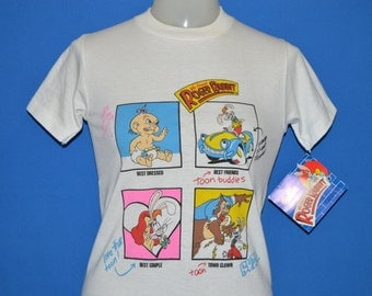 80s Who Framed Roger Rabbit Deadstock t-shirt Youth Large