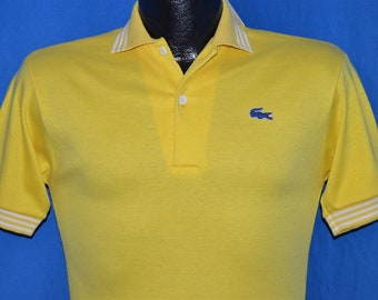 70s Izod Lacoste Yellow Polo Shirt Youth Extra Large