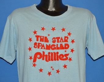 70s Star Spangled Philadelphia Phillies Bicentennial t-shirt Large